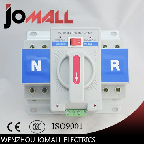 2P 63A 230V MCB type white color Dual Power Automatic transfer switch ()