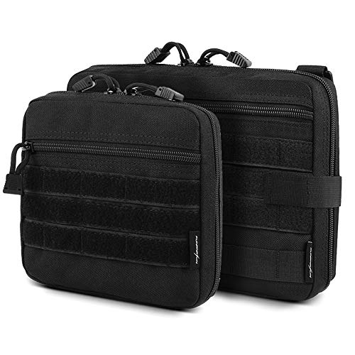 FUNANASUN Tactical Admin Molle Pouch EDC EMT Utility Bag Compact Water-Resistant Pouches Multi-Purpose Tool Packs (Admin Pouch ?L+S?)