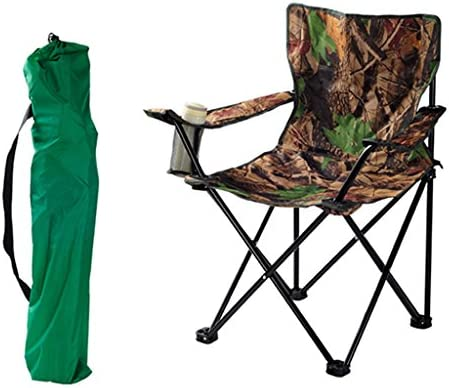 屋外ポータブル折りたたみチェアカモホームキャンプピクニックビーチ釣りの椅子Collapsible実用耐力150kg折りたたみスツール (Size : L45*W44*H81cm)