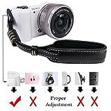 LXH Camera Wrist Strap Grip, PU Leather Mirrorless / DSLR Camera Hand Strap