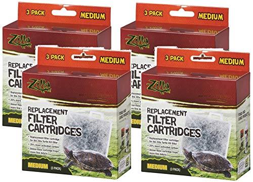 - Zilla (4 Pack) Basking Platform Replacement Filter Cartridges for Aquarium (3 Filters Per Pack)