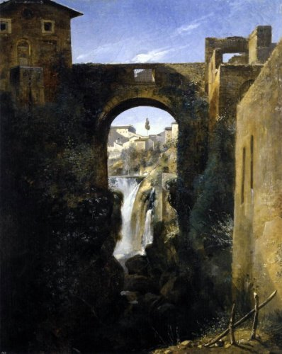 Francois-Marius Granet The San Rocco Bridge and the Grand Waterfall at Tivoli - 20.05