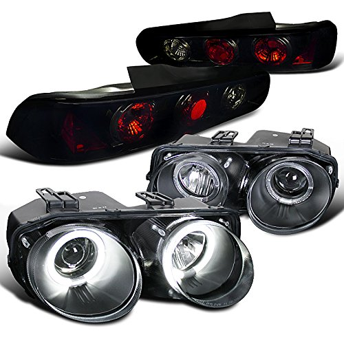 - Acura Integra Coupe Black Halo Projector Headlights+Glossy Black Tail Lights