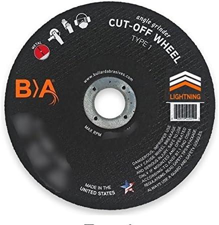 "Flap Disc 80 Grit 4-1//2/"" x 7//8/"" Zirconia Max Life 10 PACK Bullard Abrasives USA"