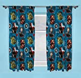 Official Marvel Avengers Endgame 66' x 72' Drop Pencil Pleated Curtains