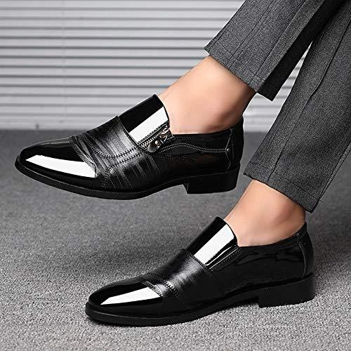Casual Vestir Los ALIKEEYZapatos Pedal Lazy Negro De Cremallera Negocios Un Zapatos Puntiaguda De De Zapato De Hombres Cabeza RFFAn5Oqw