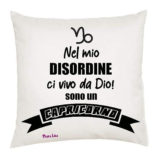 Loza Idea cojín 40 x 40 con Texto Signo Zodiacal Capricornio ...