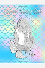 Mermaid Coloring Book: Adults & Girls Coloring Book, Mermaid Large Print Paperback