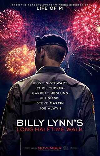 BILLY LYNN'S LONG HALFTIME WALK MOVIE POSTER 2 Sided ORIGINAL 27x40 ANG LEE