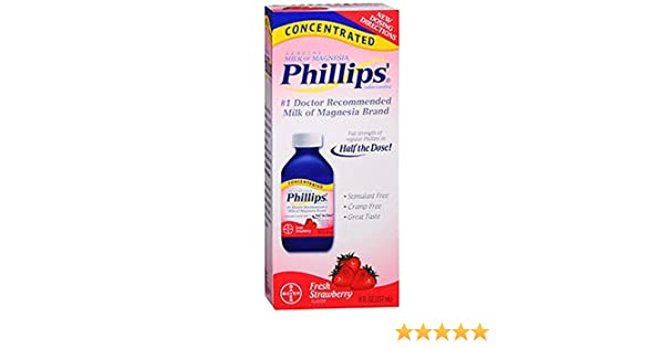 Amazon.com: Phillips Concentrated Milk of Magnesia Fresh Strawberry, 8fl.oz - Buy Packs and Save (Pack of 4): Health & Personal Care
