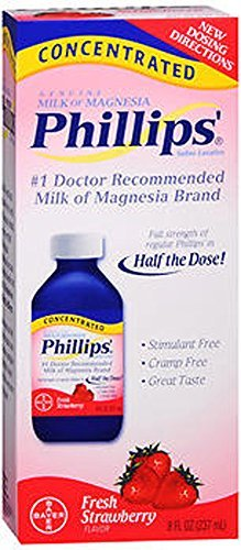 Phillips Concentrated Milk of Magnesia Fresh Strawberry, 8fl.oz - Buy Packs and Save