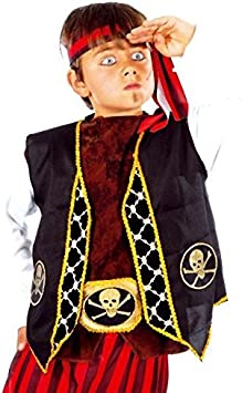 Chaleco Pirata Infantil: Amazon.es: Juguetes y juegos