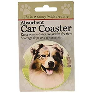 "E&S Pets Australian Shepherd Coaster, 3"" x 3"" 25"