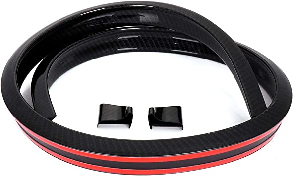 Carbon Fiber Universal Spoiler Rubber Rear Roof Trunk Molding Lip Sport Wing 3M