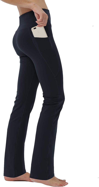 puutiin Womens High Waist with Pocket Yoga Pants Tummy Control Workout Running 4 Way Stretch Yoga Leggings