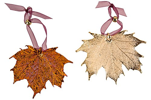 - Curious Designs Leaf Ornaments, Maple Set - Copper and Gold Plated. Sugar and/or Full Moon