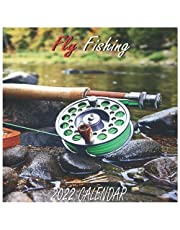 """Fly Fishing Calendar 2022: Fly Fishing 2022 """"8.5x8.5"""" Inch 16 Months JAN 2022 TO APR 2023 finished and Glossy"""