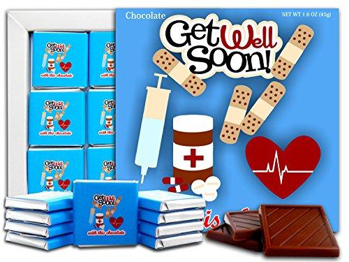 DA CHOCOLATE Candy Souvenir GET WELL SOON Chocolate Gift Set 5x5in 1 box (Blue)