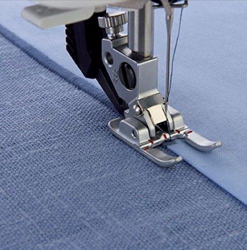 HONEYSEW Presser Foot For Pfaff Household Sewing Machine (6mm Open Toe Satin Stitch Metal Applique Foot)