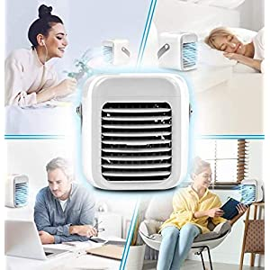 Blaux Wearable AC - Rechargeable Water-Cooled Air Conditioner - Portable USB 2000mAh battery Rechargeable - Rapid…