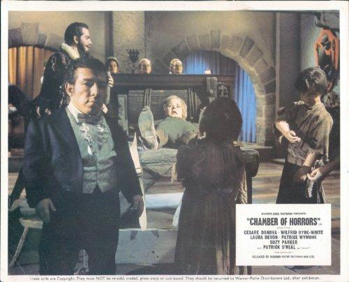 (CHAMBER OF HORRORS ORIGINAL BRITISH LOBBY CARD TORTURE SCENE)