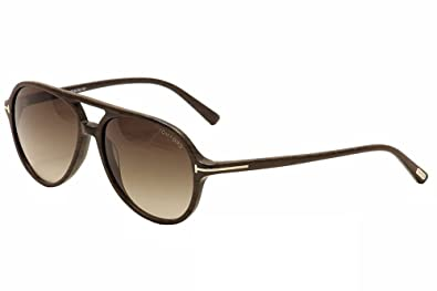 14ac373add Tom Ford Jared FT0331 Sunglasses-50K Striped Brown (Brown Gradient  Lens)-58mm