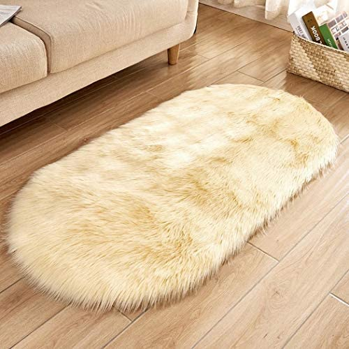 LEANO Faux Wool Oval Carpet Sofa Mat Soft Home Room Plush Area Rugs Decor Carpet Upholstery Cleaner Replacement Parts