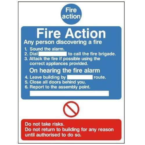 Autoadhesivo Fire acción Bournville, seguridad cartel Ellis ...