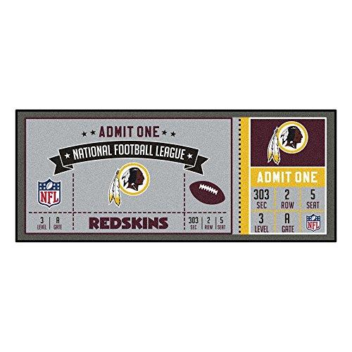 - FANMATS NFL Washington Redskins NFL-Washington Redskinsticket Runner, Team Color, One Size
