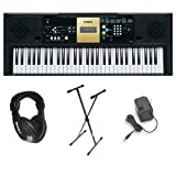 Yamaha YPT-220 61 Key Personal Keyboard with AC Adapter,...