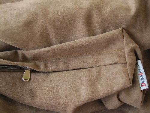 55″X37″X4″ XXL Extra Large MicroSuede Brown Pet Dog Bed zipper Duvet Cover – Replacement cover only, My Pet Supplies
