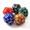 (5 Colors Set) - Set of 5  D30 30-Sided Chessex Dice 25mm RPG and Math Gaming Dice Rarity Diceの商品画像