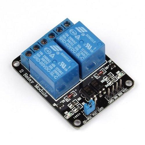 Soccik Relaismodul Verdrahtungskan/äle 2 Kanal 5V Relay Relais Modul Brett F/ür Arduino PIC AVR DSP Relay Module