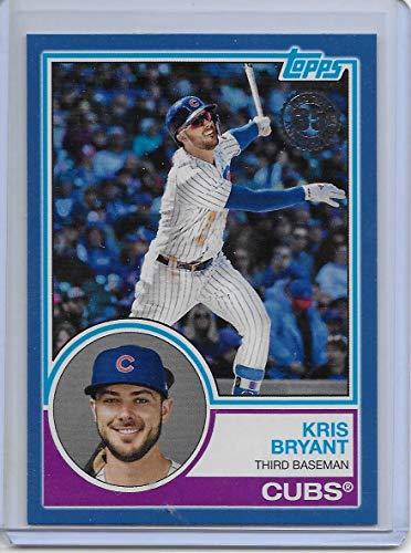 (2018 Topps Update Blue Border 1983 Topps 35th #83-44 Kris Bryant Chicago Cubs Baseball Card)