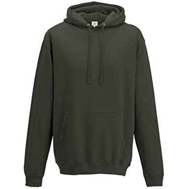 bdf4c51c Star and Stripes Plain Olive Green Hoodie, Pullover Hoodie Plus 1 T ...