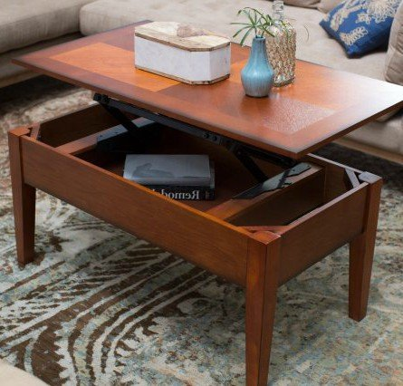Coffee Table Organizer - Turner Lift Top