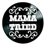 Mama Tried song lyrics by Merle Haggard on a Vinyl Record Album Wall Art