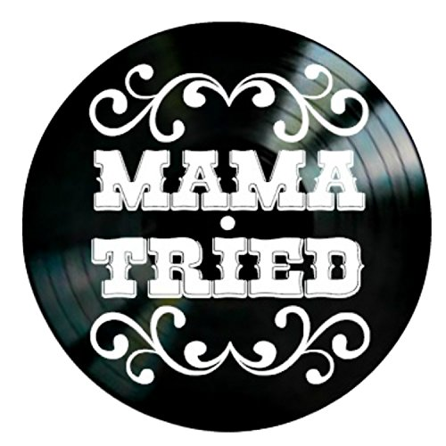 Mama Tried song lyrics by Merle Haggard on a Vinyl Record Album Wall Art by VinylRevamped