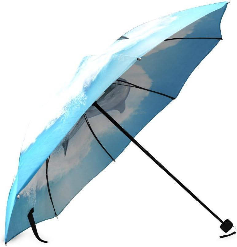 Custom Dolphin Compact Travel Windproof Rainproof Foldable Umbrella
