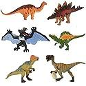子供のための教育用プラスチック盛り合わせの恐竜のおもちゃフィギュア - 6パック、#24