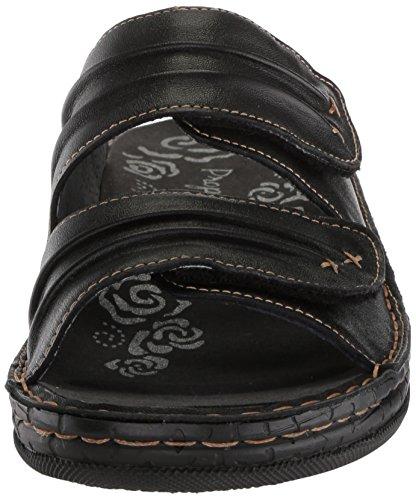 Pictures of Propet Women's June Slide Sandal Black 9 Wide US WSO001L 6