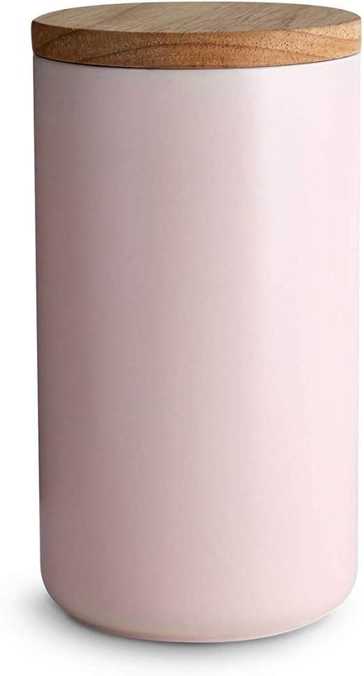 : Keramik Vorratsdosen mit Holzdeckel Sweet Scandi