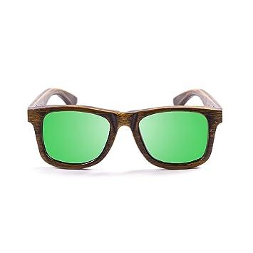 Ocean Sunglasses wood Victoria - lunettes de soleil polarisées en Bambou - Monture : Noir - Verres : Revo Vert (53002.1) 3QdinJ