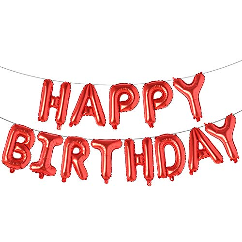 Happy Birthday Balloons, Aluminum Foil Banner Balloons for Birthday Party Decorations and Supplies ()