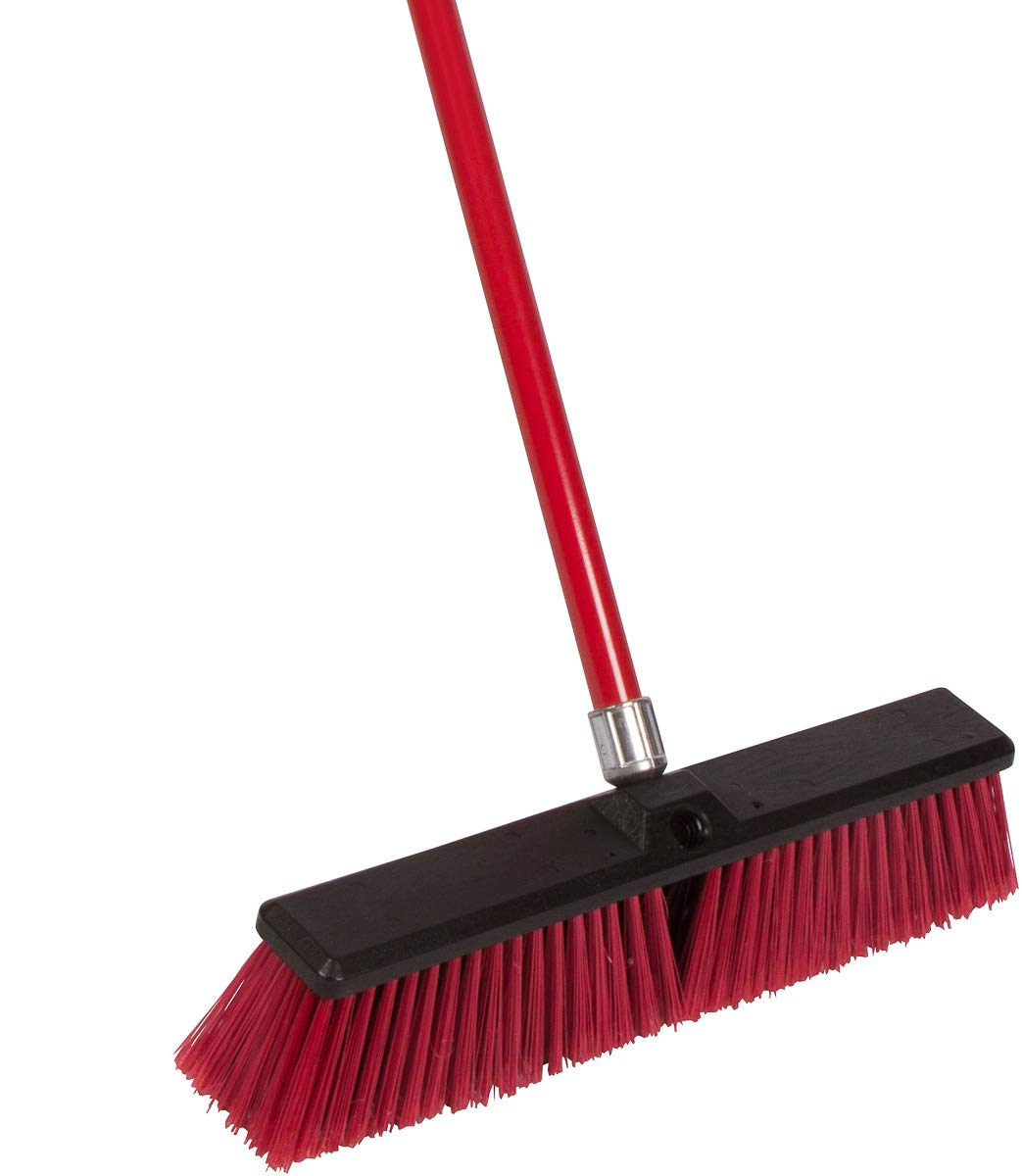 Tidy Tools Large 18'' Multi-Surface Push Broom With Alloy Handle by Tidy Tools