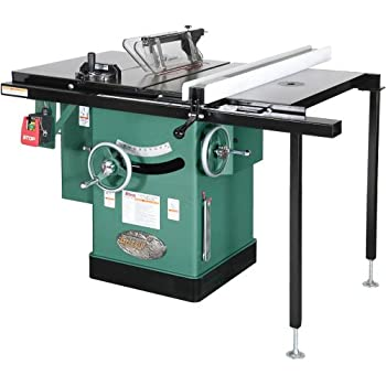 cabinet table saw grizzly g1023rl 3 hp cabinet left tilting table saw 10 13062