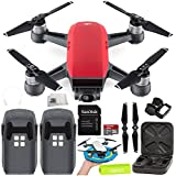 DJI Spark Portable Mini Drone Quadcopter Essential Palm Landing Pad Bundle (Lava Red)