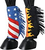 Tough 1 Sport Boot Covers w/Fringe Patriotic