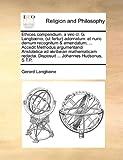 Ethices Compendium, a Viro Cl G Langbænio, Adornatum, Gerard Langbaine, 1170719597