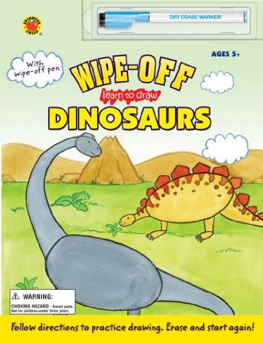 Download WIPE-OFF LEARN TO DRAW DINOSAURS [WITH MARKER] by School Specialty Publishing ( Author ) on Jan-12-2009[ Hardcover ] pdf